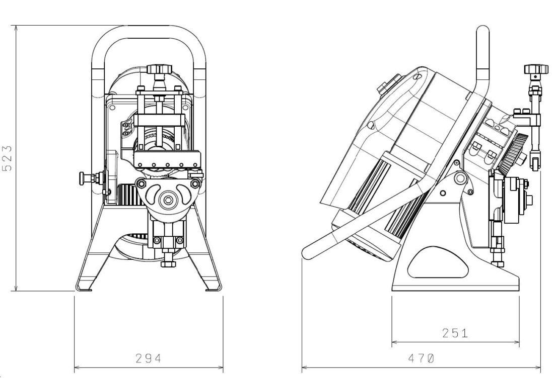 DBM12 Dimensional Drawing