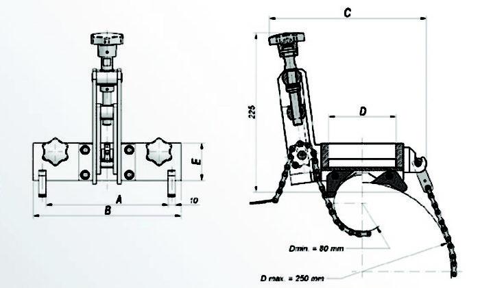 DMP 0250/0251 Pipe Cradle for Mag Drills