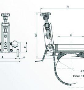 DMP 501 Pipe Cradle for Large Mag Drills