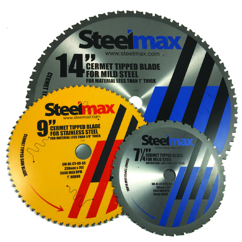 Steelmax Cermet-Tipped Saw Blades